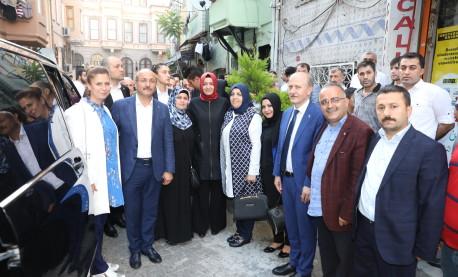 Bakan Kaya, 24 Haziran seçimleri öncesi çalışmalarına Fatih'te devam etti